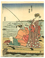 Shuncho Katsukawa active ca. 1780-1795 - Fishing Day