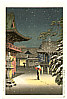 Koitsu Tsuchiya 1870-1949 - Nezu Shrine in Snow