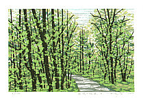 Fumio Fujita born 1933 - Forest Path in the Fresh Green - B (Limited Edition)