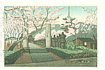 Gihachiro Okuyama 1907-1981 - Cherry Blossoms at Toshogu Shrine