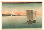 Unknown - Boats and Mt.Fuji (small size)