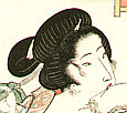 Eisen Ikeda 1790-1848 - Bijin and Mosquito Net (re-carved)