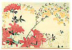 Hiroaki Takahashi 1871-1945 - Azalea and Yellow Flowers (post card size)