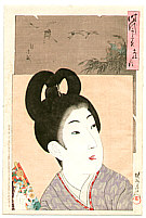 Chikanobu Toyohara 1838-1912 - Bunsei - Jidai Kagami
