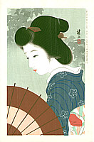Shuko Nakayama active in 1920s - May - Collection of New Ukiyoe Style Beauties