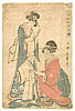 Utamaro II Kitagawa died 1831 - Going to a Festival