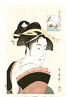 Utamaro Kitagawa 1750-1806 - Beauty Okita