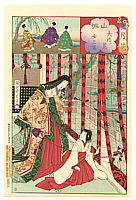 Chikanobu Toyohara 1838-1912 - The Tale of Genji  - Setsu Getsu Ka