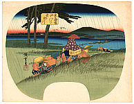 Hiroshige Ando 1797-1858 - Abe River