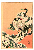 Sozan Ito 1884-? - Cranes on Snowy Pine Branch