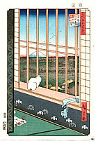 Hiroshige Ando 1797-1858 - Asakusa Ricefields - One Hundred Famous Views of Edo