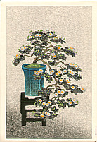 Nisaburo Ito 1910-1988 - Bonsai Chrysanthemum (left panel)