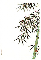 Nisaburo Ito 1910-1988 - Bamboo and Sparrows  (right panel)