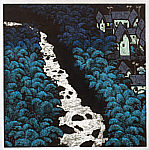 Shi Yi born 1939 - Moonlight over the Stream