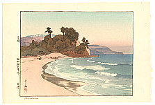 Hiroshi Yoshida 1876-1950 - Shirahama Beach (jizuri, handsigned, deluxe)