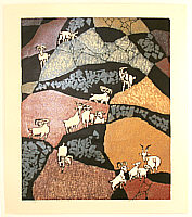 Lin Zhi Yao born 1942 - Romping Mountain Goats