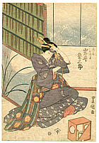 Toyokuni II Utagawa 1777-1835 - Moon, Courtesan and Tobacco