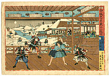 Fusatane Utagawa active ca. 1850s-90s - 47 Ronin - Chushingura Act 11