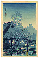 Hiroaki Takahashi 1871-1945 - Country House at Negishi