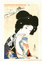 Sengai Igawa 1876-1961 - August  - Collection of New Ukiyoe Style Beauties