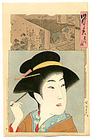 Chikanobu Toyohara 1838-1912 - Tenmei- Jidai Kagami