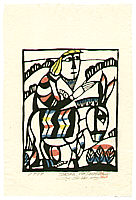 Sadao Watanabe 1913-1996 - Jesus on Donkey  - Story of the Bible