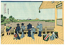 Hokusai Katsushika 1760-1849 - Five Hundred Rakan  Temple -  Thirty-six Views of Mt.Fuji
