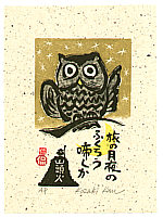 Kan Kozaki born 1942 - Hooting Owl