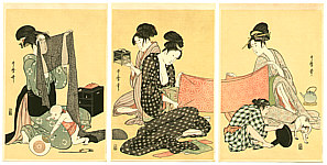 Utamaro Kitagawa 1750-1806 - Sewing