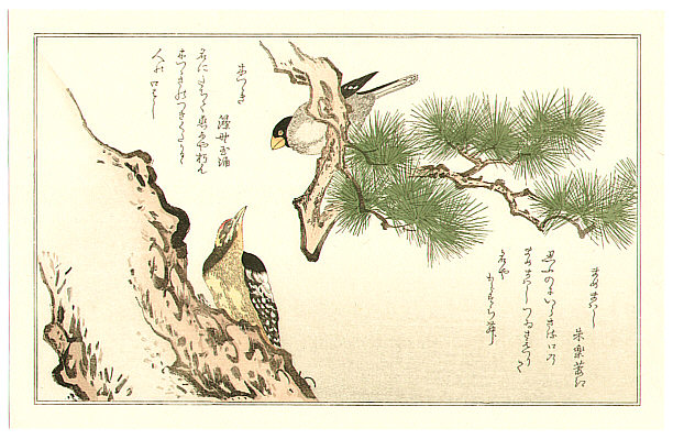 Utamaro Kitagawa 1750-1806 - Woodpecker Gosbeak