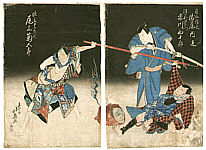 Hokuei Shumbaisai active 1829-37 - Oiwa - Ghost Story of Yotsuya