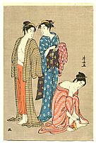 Kiyonaga Torii 1752-1815 - Three Beauties after Bath