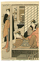 Kiyonaga Torii 1752-1815 - Three Beauties in Living Room
