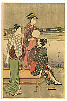 Kiyonaga Torii 1752-1815 - Three Beauties in the Summer