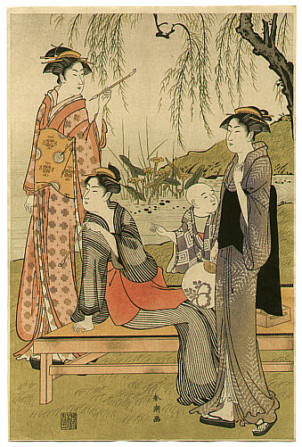 Shuncho Katsukawa active ca. 1780-1795 - Beauties at a Lake