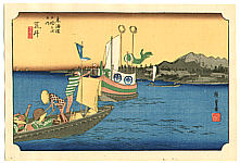 Hiroshige Ando 1797-1858 - Arai - Fifty-three Stations of the Tokaido (Hoeido)