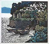 Shi Yi born 1939 - Fishing Village by the Crystalline River