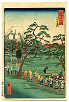 Hiroshige II Utagawa 1829-1869 - Mt. Fuji - The Scenic Places of Tokaido