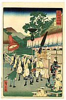 Hiroshige II Utagawa 1829-1869 - Rest Stop - The Scenic Places of Tokaido