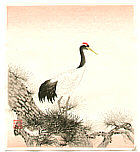 Nisaburo Ito 1910-1988 - Crane on Pine Tree