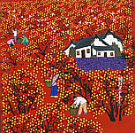 Cao Quantang born 1957 - Picking Fresh Fruits