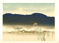 Eikyu Matsuoka 1881-1938 - Evening in Nara