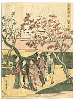 Utamaro II Kitagawa died 1831 - Looking at Red Maples - Edo Meisho Asobi