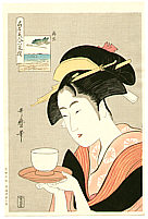 Utamaro Kitagawa 1750-1806 - Okita - Six Famous Beauties