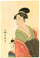 Utamaro Kitagawa 1750-1806 - Courtesan and Kamuro
