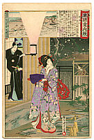 Chikanobu Toyohara 1838-1912 - Toyotomi Hidetada  - Azuma Nishiki Chuya Kurabe