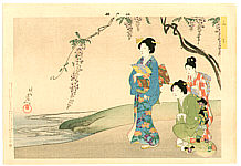 Chikanobu Toyohara 1838-1912 - Wisteria - Edo Brocade Pictures