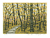 Fumio Fujita born 1933 - A Mountain Path in Autumn