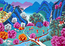 Cheng Minsheng born 1943 - Spring is Coming to the Mountains