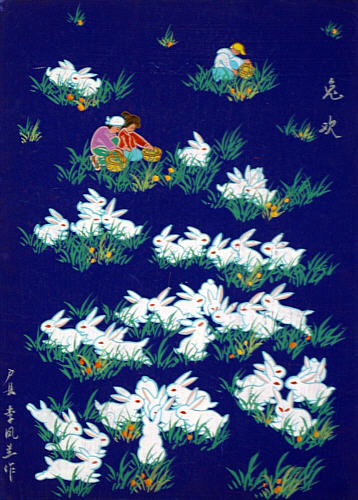 Li Fenglan born 1933 - Happy Rabbits